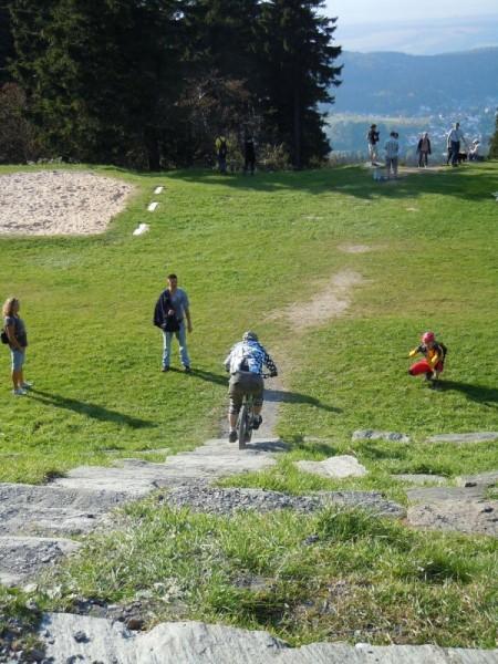 Trailscout Sascha auf der Felbergtreppe