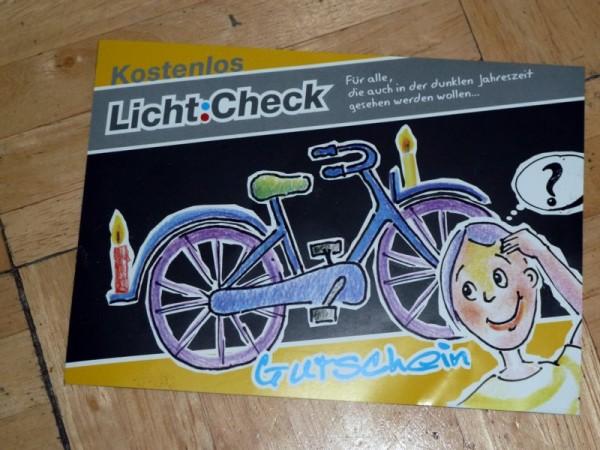 Fahrrad Lichtcheck kostenlos