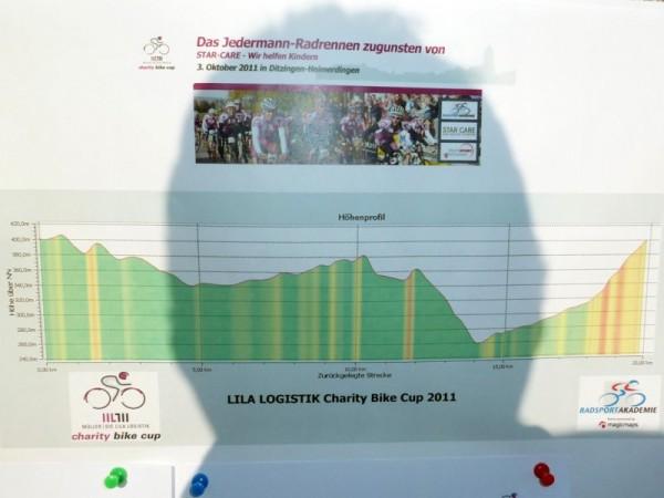 Höhenprofil beim Charity Bike Cup 2011 in Heimerdingen