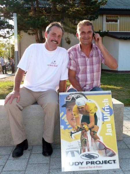 Konrad und Ohle mit dem Jan Ullrich Poster