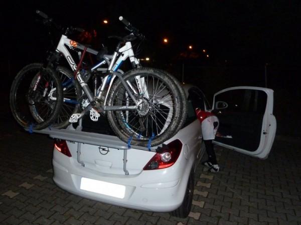 Neuer Günstiger Fahrradträger beim Night Rider