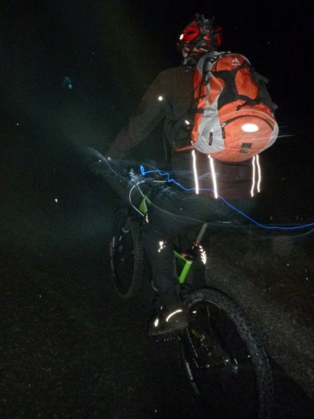 Trailscout Sascha beim Night Rider