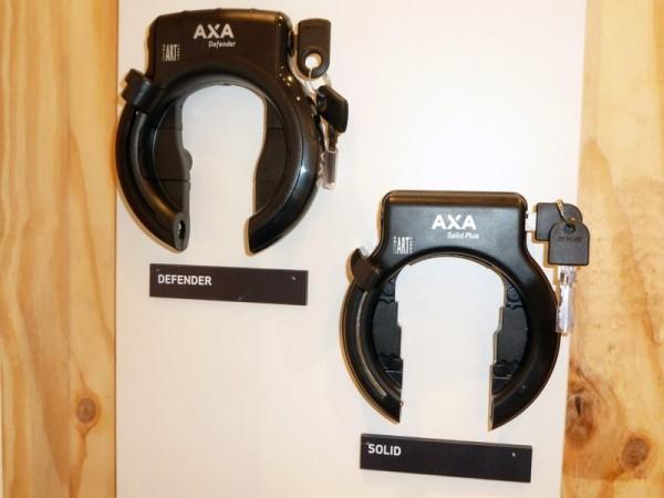 Rahmenschloss Axa Defender und Axa Solid